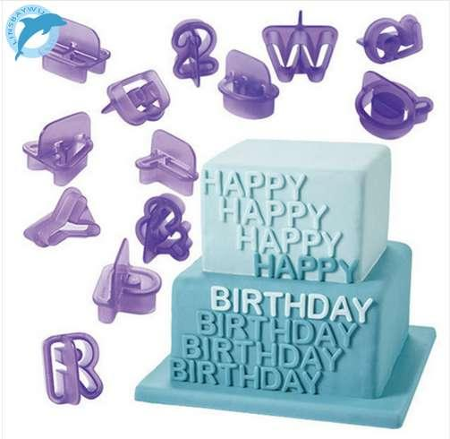 LINSBAYWU 40Pc Cake Decorations Tools Alphabet Letter Number Fondant Cake Biscuit Baking Cookie Cutters Mold