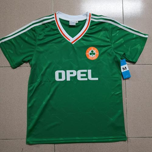 17bfe442c ... 2018 2019 away blue football hirt. Thailand 1990 1992 ireland retro  occer jer ey republic of ireland national team jer ey 90