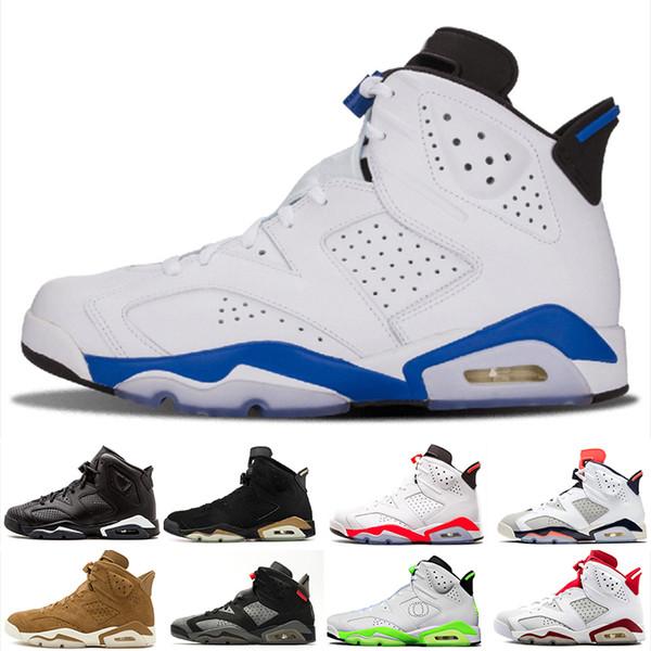 NIKE Air Jordan 6 Retro Envío gratis 2018 niños 6 VI zapatos de baloncesto para niños 6s deportes niños niñas jóvenes bebés al aire libre zapatillas de deporte tamaño 28-35