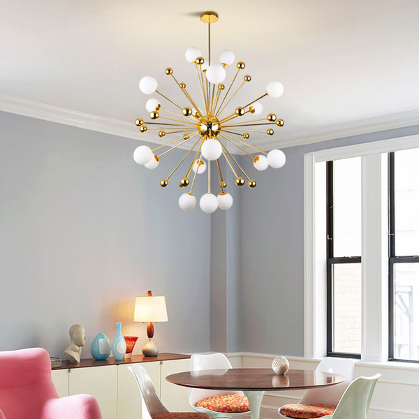 Postmoderno creativo lámpara de araña de hierro forjado restaurante lámpara colgante personalidad dormitorio estudio comedor araña lámpara de la sala de estar nórdica