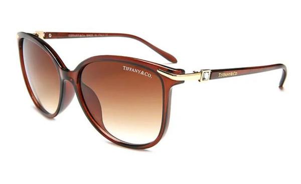 1 pcs de Alta Qualidade Piloto Clássico Óculos De Sol Designer de Marca Mens Womens Óculos de Sol Óculos De Metal De Ouro GrGlass Lentes Cas Marrom 332