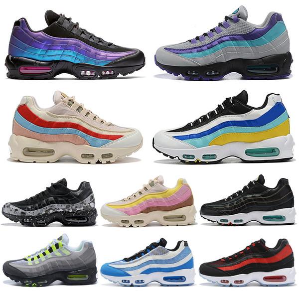 Nike Air Max 95 95s shoes Nouveau chaussures Hommes Femmes Classique Noir Rouge Blanc Jaune Sports Trainer Coussin De Surface Respirant Sport Sneakers Chaussures De Course 36-45