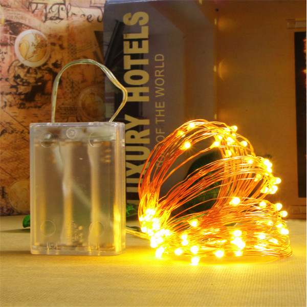 10m 100 Led Battery Operated String Light Waterproof Led Copper Wire String Outdoor Fairy Lights For Romantic Love Holiday Wedding Strings Of Lights