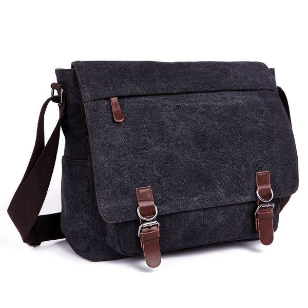 Portatiles Ordenadores Canvas Men Fashion Travel Shoulder Messenger Bags Laptop Business Bag Pocket Staff Men Briefcase Bags #673120
