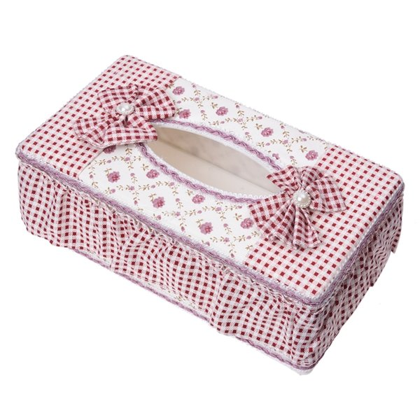 Pastoral Style Rectangle Tissue Box Paper Holder - Floral Pattern