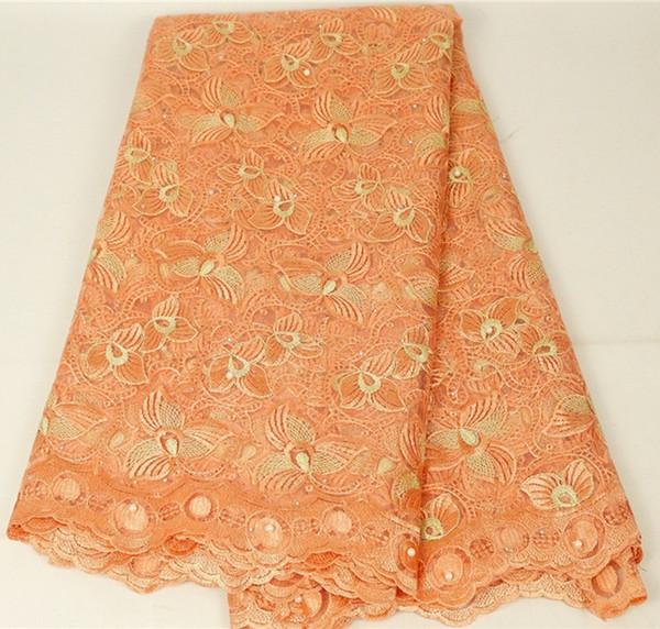 Nuovo tessuto francese del merletto Royal Blue 2019 Rete del ricamo del merletto netto di alta qualità Nigeria Vestito africano delle donne 426-29