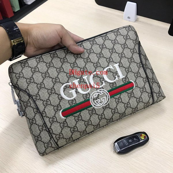2019 fashion brand style tote wallet High capacity Plaid printing Leather men short wallets for women men Coin purse clutch bags VS-A5