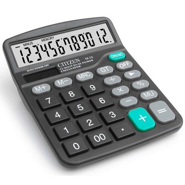 Solar Calculator 12 Dual Power Computer Black Calculator Gift Office Home Portable Pocket Functions Calculator For Teaching