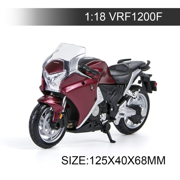 1:18 Motorcycle VRF 1200F Red Black Metal Diecast Models Motor Bike Miniature Race Toy For Gift Collection
