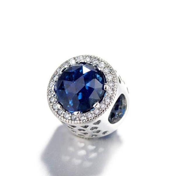 Starfish Sky Opal Glasur Baumeln Charme 925 Sterling Silber Europäische Floating Charms Perle mit blauer Emaille Fit Pandora Armband DIY Schmuck W74