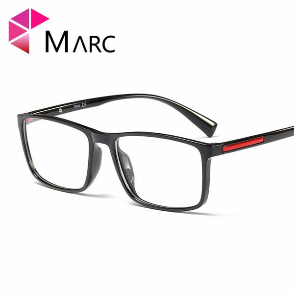 MARC New Men TR90 Commerce Frame Eyewear 2019 Fashion Male Resin Clear lens Glass Trend Square Shaped Eyeglasses G8011 1