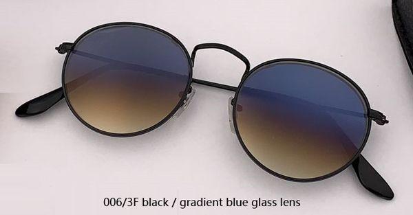 006 / 3F schwarz / verlaufsblaues Glas