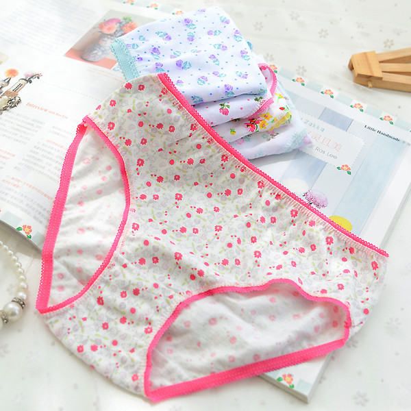12Pcs/Lot Cotton Panties Girls Kids Short Briefs Children Underwear Child Cartoon Shorts Underpants Girl Panties