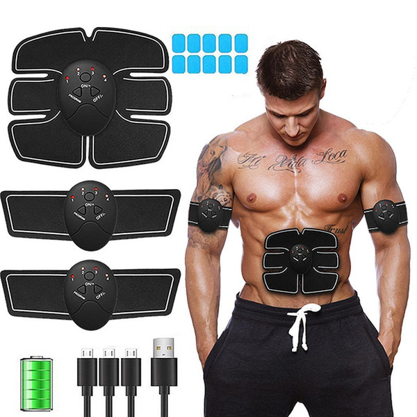 USB Charging Durable Abdominal Smart Stimulator Training Fitness Instrument Gear Muscle Exerciser Toning Belt Battery High Quality 001