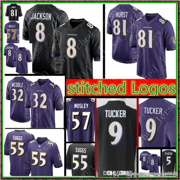 newest 622a3 f163e 2019 Baltimore 8 Lamar Jackson Ravens 81 Hayden Hurst Jersey Mens 9 Justin  Tucker 5 Joe Flacco Perriman 32 Eric Weddle 55 Jerseys From Big_red_shop,  ...