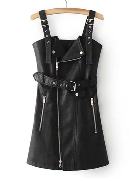 Printemps, été et automne Nouvelle locomotive Euro-Américaine pour femme, jupe en PU lavée à l'eau, jupe pour ceinture féminine A jupe éclatée