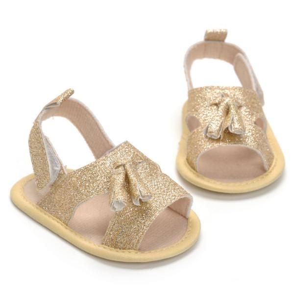 Sommer Schuhe Baby Mädchen weiches Leder Sandalen Kleinkind Infant Prewalker weiche Sohle PU Strand Sandalen