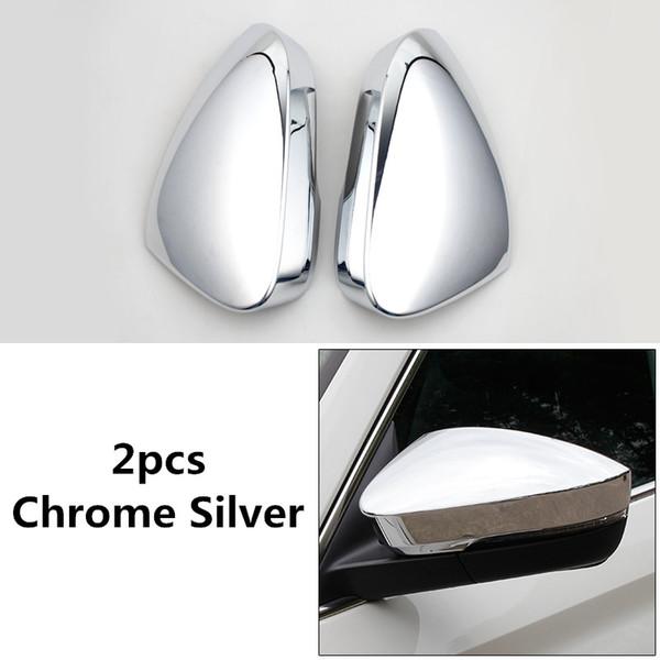2 pezzi. Copertura per specchietto retrovisore in ABS cromato