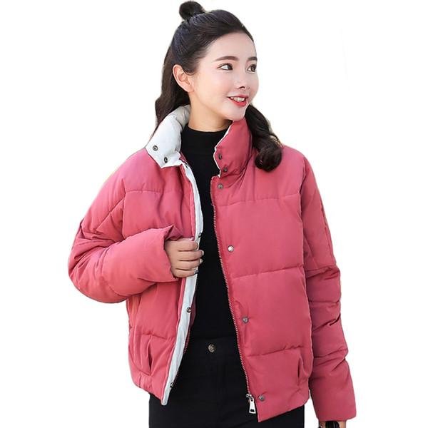 Collar De Coreano Mujeres Estilo Compre Moda Chaqueta 2018 Invierno WBqx47pn
