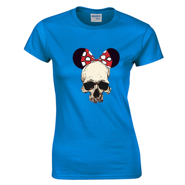 women t-shirt vintage 90s cool kawaii Harajuku t shirt brand funny Tumblr rock cotton mouse skull tops & tees