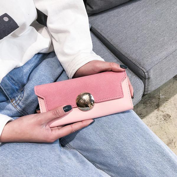 Pretty2019 Fonds Long Femme Japon Et La Corée Du Sud Concise Hasp Petit Portefeuille Frais Ultramince En Cuir Souple Main Prendre Paquet Marée