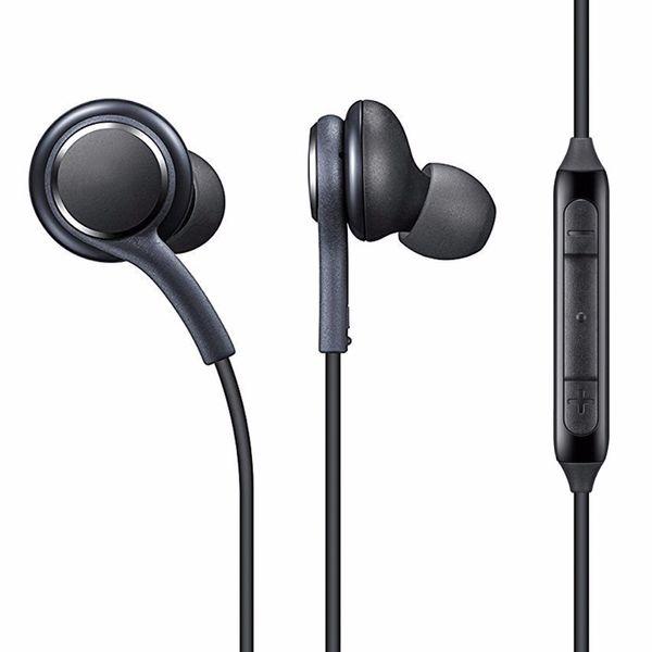 Nuevos auriculares S8 Negro Blanco Auriculares intrauditivos Micrófono Auriculares manos libres Samsung Galaxy S8 y S8 Plus Tapones para los oídos OEM