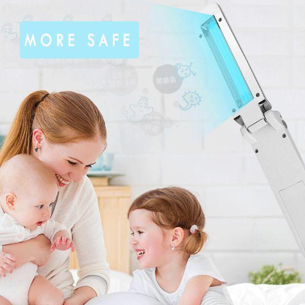top popular Handheld UVC Lamp Sterilizer 2W UV Sterilizer Disinfection Lamp Folding Ultraviolet Germicidal Light Travel Bactericidal Lamp 2020
