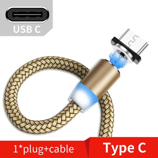 Gold-Kabel und Stecker