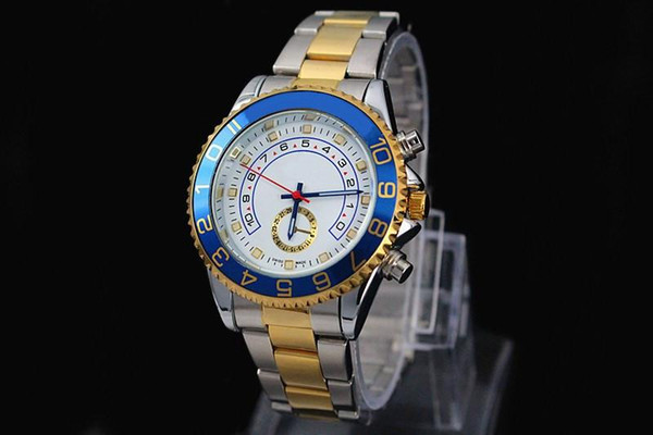 relogio masculino 45mm mens watches top brand luxury Designer automatic White dial full gold stainless steel male clock big watch for men