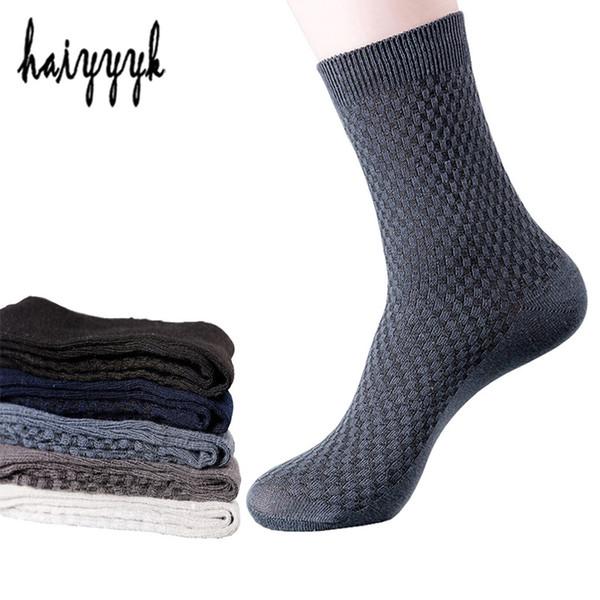 5 pares de calcetines de vestir para hombres Fibra de bambú Otoño Invierno Desodorante Absorción del sudor Calcetines de negocios Hombres Tamaño EUR 38-44