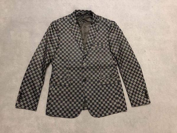 2019 En kaliteli Erkek Tasarımcı Takım Elbise Blazer İtalya Ayna iki G baskı Lüks hoodie siyah Erkek Kadın etiketi Yeni düğün Rüzgarlık