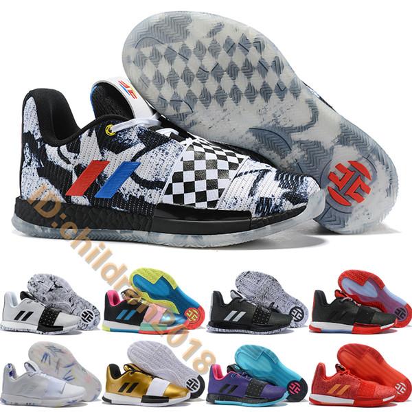 Затвердеть Vol. 3 баскетбольная обувь для мужчин тренеры Джеймс Харден 3S All-star Invader Draw League Supernova Scarlet Basket кроссовки размер 40-46