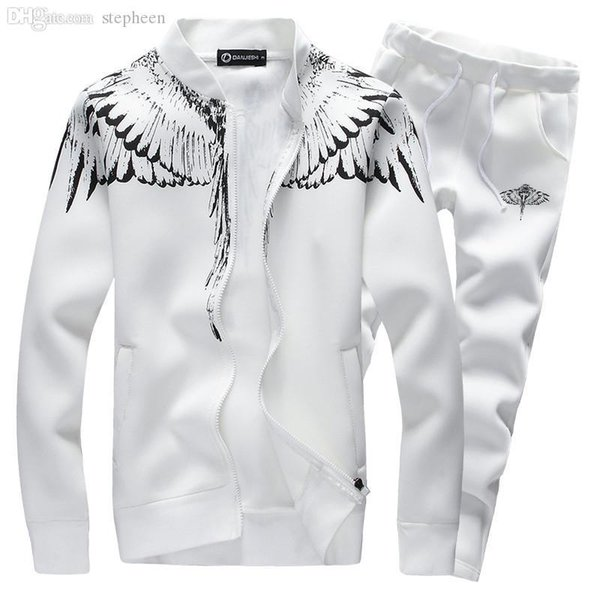 Wholesale-Brand-Clothing Menswear Fashion Tracksuit Casual Sports Suit Mens Spring/Autumn Hoodies/Sweatshirts Coat+Pant Tracksuit25