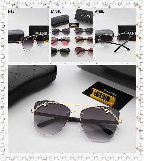 2019 Designer fashion sunglasses, women's Sunglasses ultra-light design, high-definition Polaroid lens (7205)
