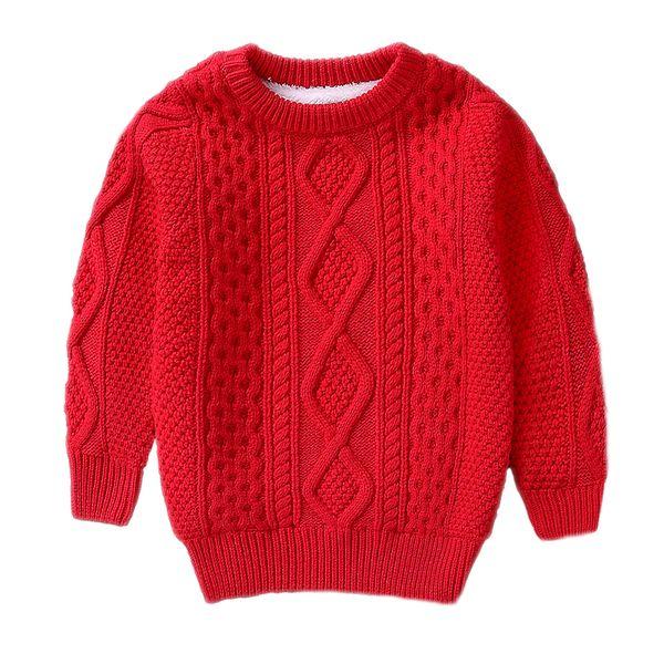 Çocuk Kış Giysileri Sıcak bebek erkek Kız kazak 2 4 6 8 10 Yıl içinde Kaşmir Kazaklar peluş içinde Örme Gevşek ceket