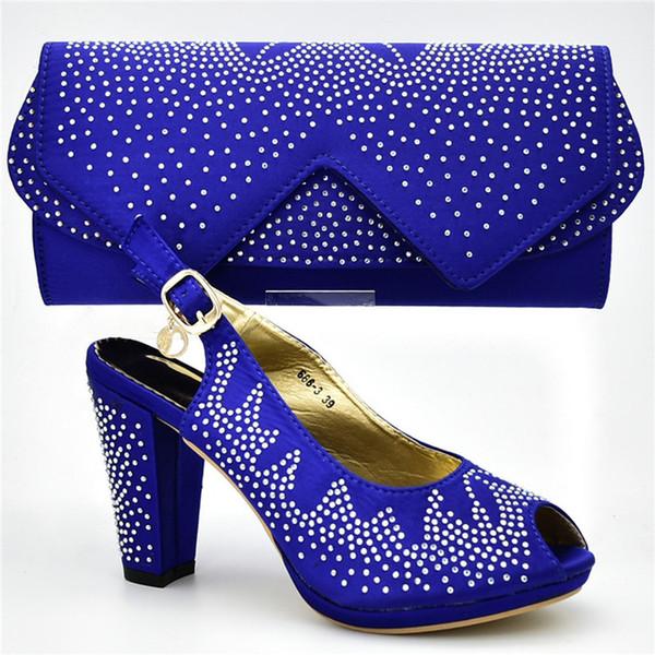 2019 brand fashion designer luxury handbags purses Italian Heeled shoes bag set for women Flowers Schoenen Nigeriaanse Lady Party Schoenen