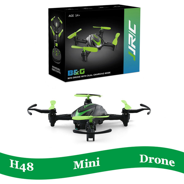Foldable h48 pocket rc drone 2 4g 4ch 6 axi flip quadcopter rtf v h36 helicopter for kid children chri tma gift infrared control