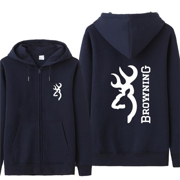 Sudadera con capucha de Browning Sudadera con capucha de otoño para hombres Chaqueta de lana Unisex Hombre Sudaderas con capucha de hombre HS-043