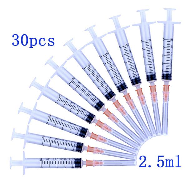 Tek kullanımlık Plastik steril Şırınga 2.5ml Laboratuar ve Endüstriyel Dağıtım Yapıştırıcılar için İğne Enjektörlü 3ml şırınga Tutkal Lehim Pastası