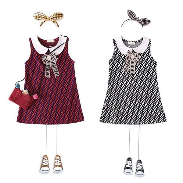Latest model summer children's skirt girl dress high quality amazing Sweet Roman cotton