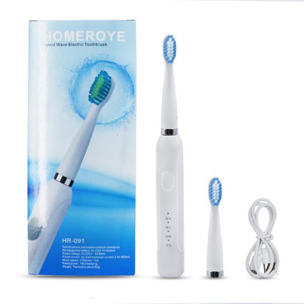 Brosse à dents électrique choc motorisé Brosse à dents Belle nettoyage blanc Massage Ménage motorisé Brosse à dents