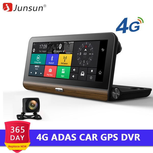 Junsun E31 Pro 4G ADAS Cámara DVR para coche Wifi Android Navegación GPS 1080 P Grabadora de video automática Registrar Dash Cam Monitor de estacionamiento