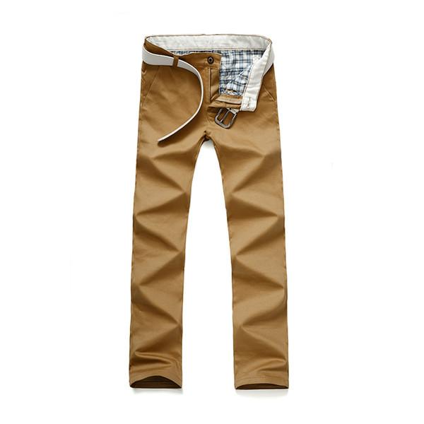 8fe761c13c60e 2018 Nueva Marca de Moda Pantalones de Los Hombres Delgados Color Sólido  Elasticidad Hombres Pantalones Casuales