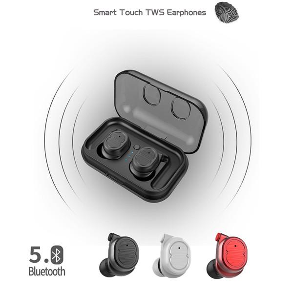 TWS-8 auriculares inalámbricos Bluetooth para auriculares auriculares verdaderos graves bluetooth5.0 auriculares estéreo 3d con caja de carga