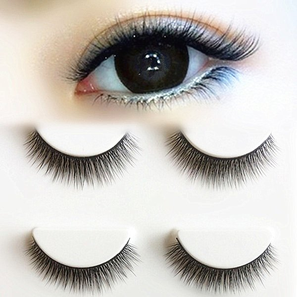 2019 New 3d Stereo Multilayer Fake Eyelashes Black Cotton Stalk Eyelash Natural Simulation False Eye Lashes Makeup Tips 3 Pairs