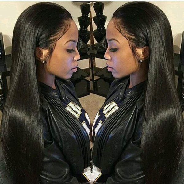 4x4 Fermeture perruque péruvienne droite perruques de cheveux humains pour les femmes noires Maxine dentelle fermeture perruque pré plumé avec bébé cheveux Remy Perruques