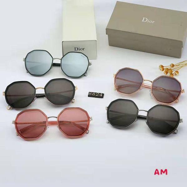 New Fashion Sonnenbrillen Brand Designer Sonnenbrillen Herren Damen Sonnenbrillen 3379 Glass Lens Sonnenbrillen Unisex-Brillen kommen mit Box Glitter2009