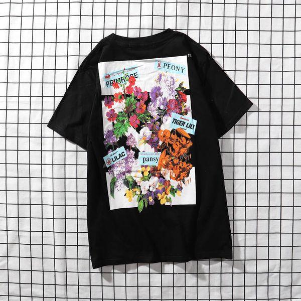 new Mens Designer T Shirt Premium Brand White T Shirts Floral Print Womens TShirts High Street Hip-hop tee Fashion Men Clothing Luxury tees