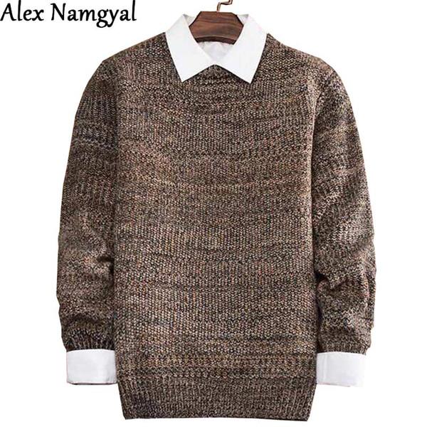 AlexNamgyal 2016 Automne Nouveau Vêtements pour hommes Pull Homme Marque Pull Hommes Casual épais Bonneterie Vêtements pour hommes SML12