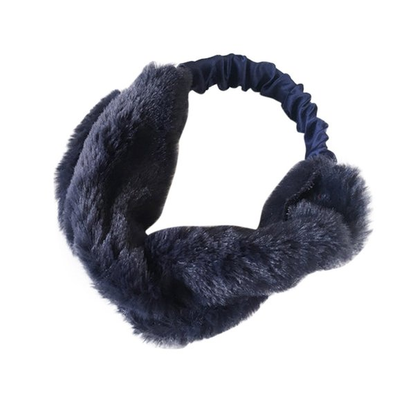 WOMEN FAUX FUR CROSS TWIST HEADBAND HAIR BAND TURBAN ELASTIC HEADBAND BANDAGE 180111